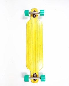 Longboard droptrough bamboo compl. green